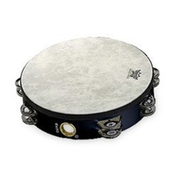 "Remo 10"" Double Row Tambourine with Head Black"