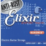 Nanoweb Anti-Rust Electric Guitar Strings Super Light