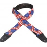 Levy's Polyester Guitar Strap American Flag