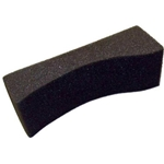 Sponge Violin/Viola Shoulder Rest #5 Medium Charcoal Gray