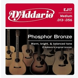 D'Addario Phosphor Bronze Guitar Strings Medium