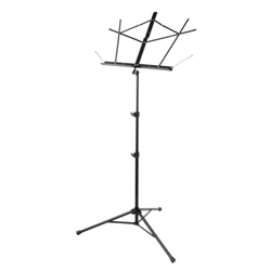 On-Stage Folding Music Stand w/Bag Black Tubular