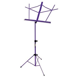 Eckroth Music On Stage Folding Music Stand Wbag Purple