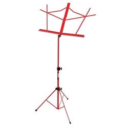 On-Stage Folding Music Stand w/Bag Red