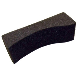 EMC Sponge Violin/Viola Shoulder Rest #4 Small Charcoal Gray